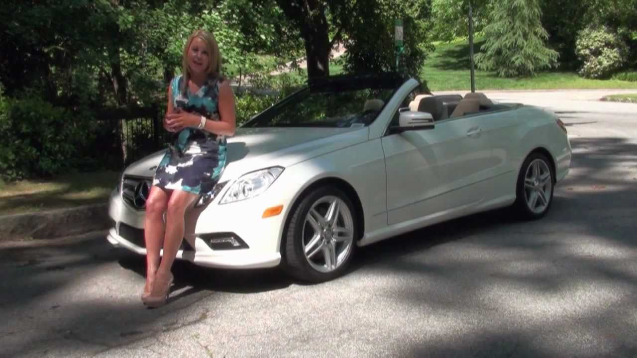 Emily talks about the 2011 mercedes benz e550 cabriolet for Mercedes benz e550 cabriolet