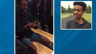 Highline teen flips out after learning his acceptance into Harvard
