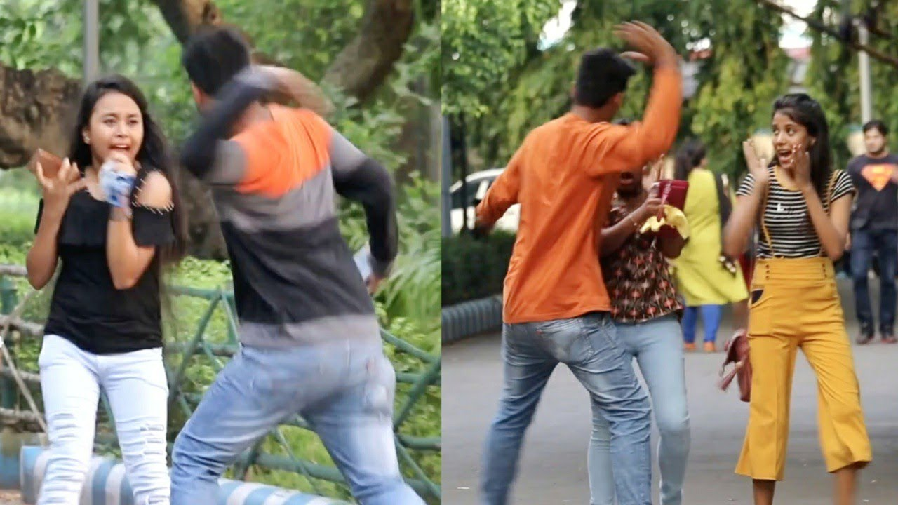 All Time Most Dangerous Slapping Prank Ever by PrankBuzz