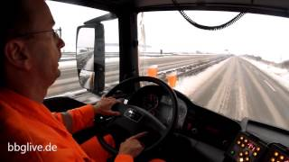 Unterwegs mit dem Winterräumdienst auf der B6n