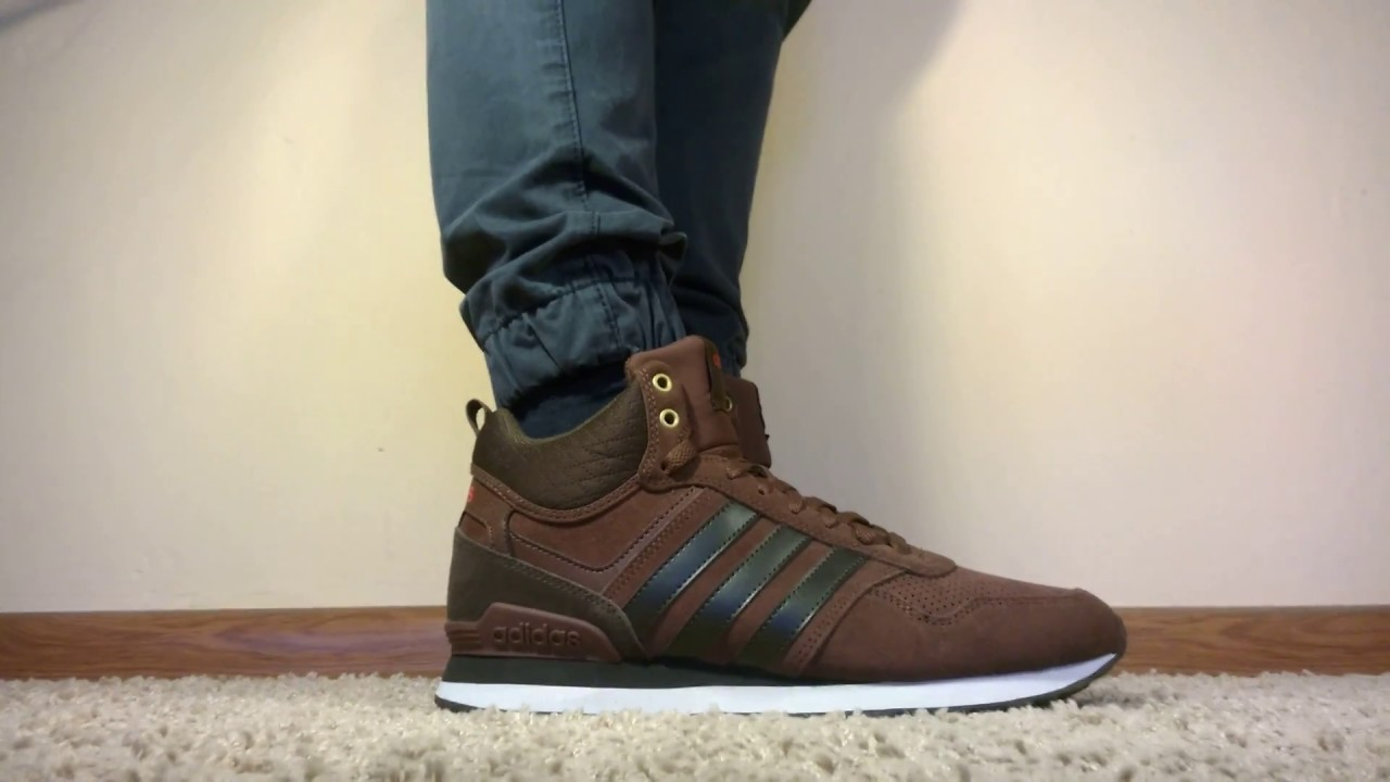 Schoes Adidas Neo 10XT WTR MID AW5266 on feet