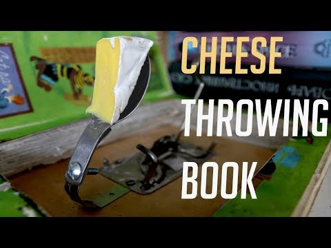 Cheese Throwing Book Trap
