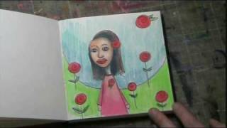 #07 Bloknote TV - Girls & Roses - Art Journaling Mixed Media Workshop