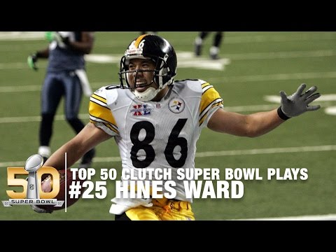 #25: Antwaan Randle El Throws To Hines Ward Super Bowl XL  | Top 50 Clutch Super Bowl Plays