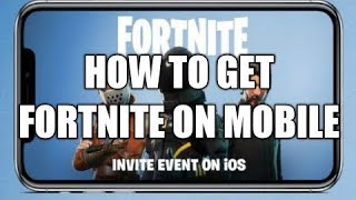 Fortnite IOS APP STORE LINK/ CODE