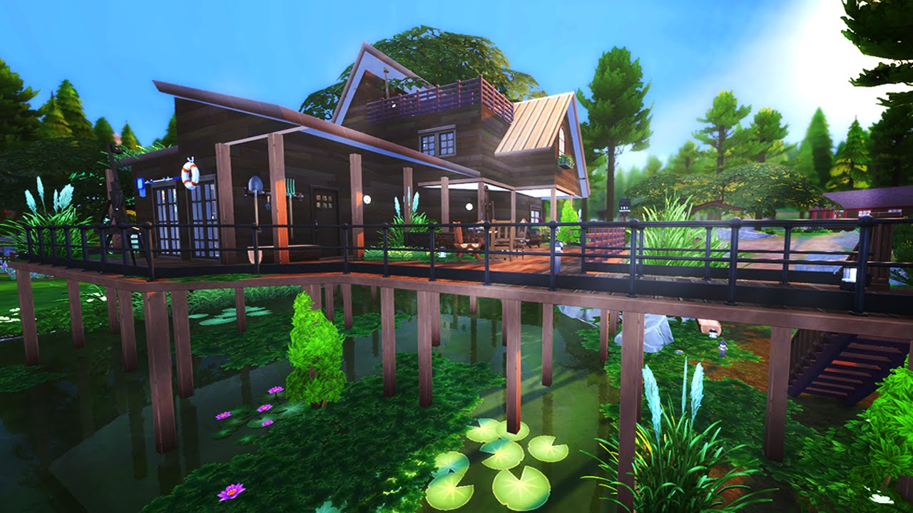 The Sims 4 Build Swamp Cabin Youtube