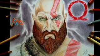 DIBUJANDO A KRATOS (GOD OF WAR)/DRAWING KRATOS (GOD OF WAR)