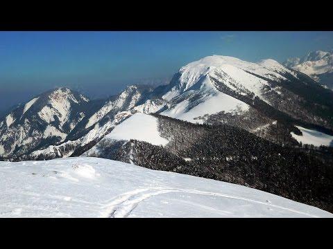 Turni smuk z vrha Male Golice – Skitouren Kl. Kahlkogel - Ski mountaineering Karavanke/SLO