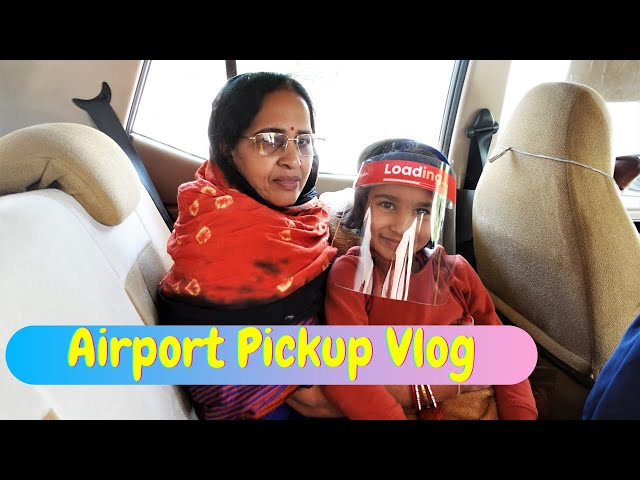 Airport pickUp Vlog / Going to pickup my chachu and mama from Bangalore Airport  #LearnWithPari