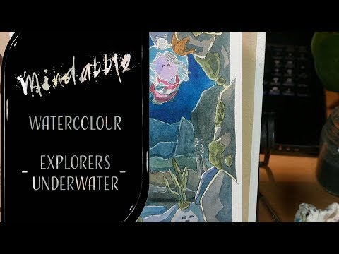 Explorers deepsea - Watercolour painting process