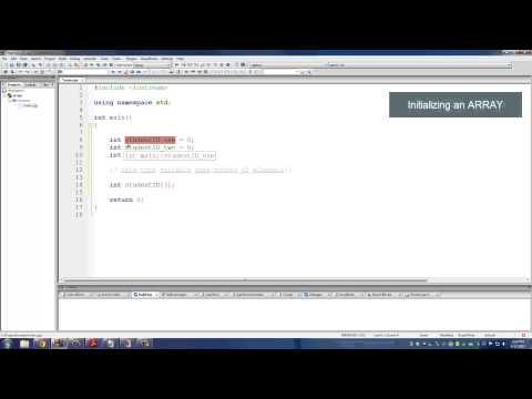 C++ Programming Tutorials: 14 - Arrays (Declaring and Initializing)