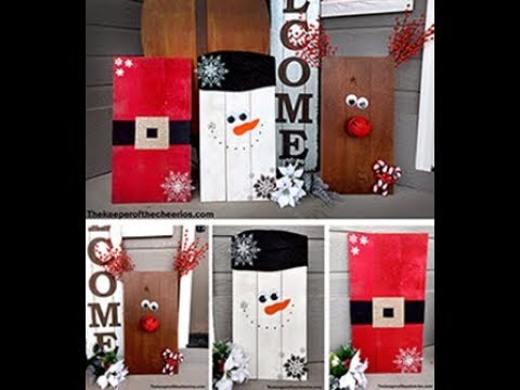 Easy Christmas Wood Pallet Decorations Youtube