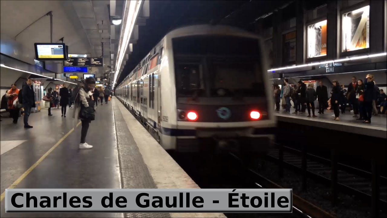 charles de gaulle toile rer a paris ratp mi2n mi09 youtube. Black Bedroom Furniture Sets. Home Design Ideas