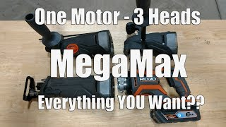 Ridgid Octane MegaMax 18-Volt Power Base, SDS Plus, Right Angle Drill & Reciprocating Saw Review