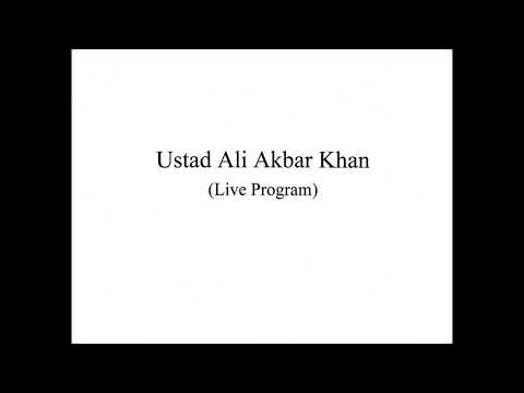 Ustad Ali Akbar Khan (Live Program)