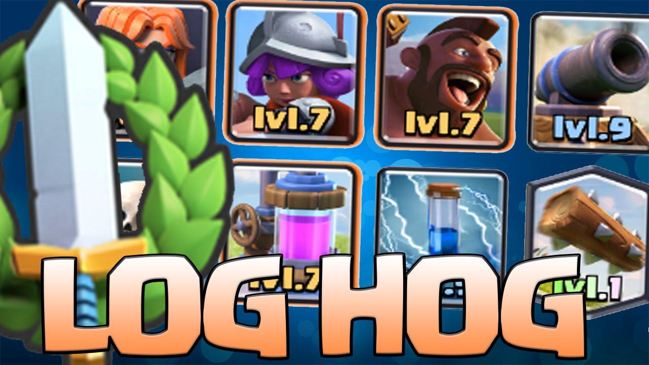 The Log Hog Deck 3000 Cards Tournament Winning Decks 1 Arena 6 7 8 9 Clash Royale Youtube
