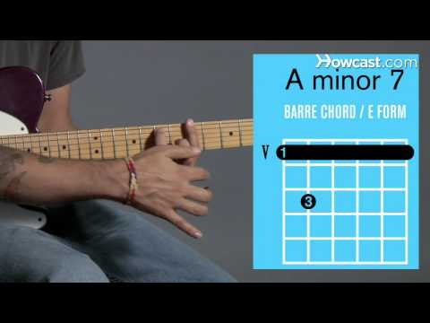 how to play an a minor 7 barre chord | guitar lessons