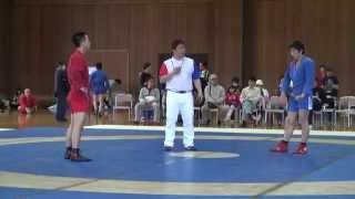第12回東日本サンボ選手権大会:男子62kg級準々決勝 森慎太郎vs中西正則