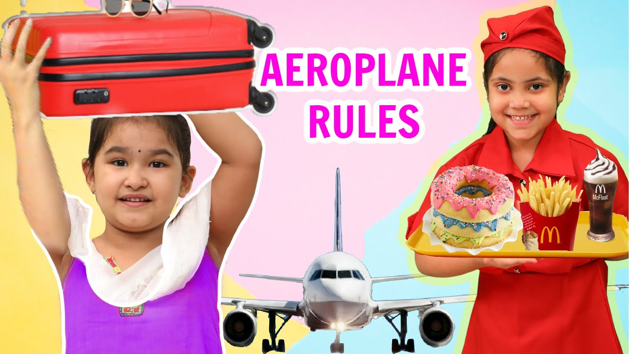 Kids PRETEND Play AEROPLANE Rules | Desi Girl in Plane | ToyStars