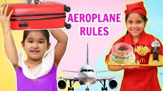 Kids PRETEND Play AEROPLANE Rules | Desi Girl in Plane | ToyStars