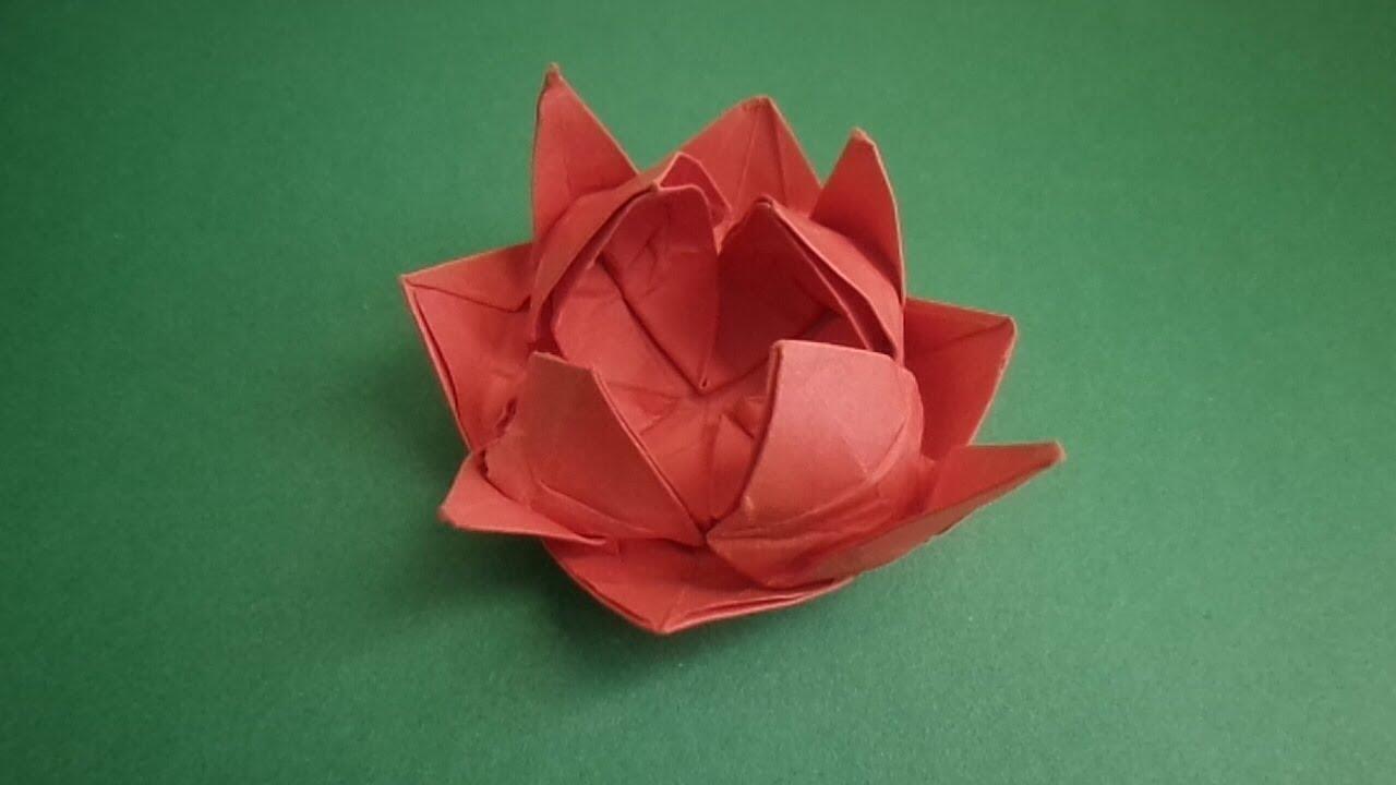 Оригами. цветок лотоса