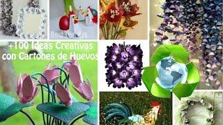 Reciclaje Cartón Huevos +100 Ideas / Recycling egg cartons +100 Ideas