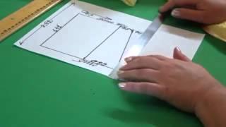 видео Ламбрекен ракушка: выкройка с таблицей, технология изготовления
