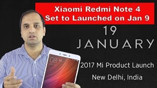 Xiaomi Redmi Note 4 with Snapdragon 653 Launch in India Expected on January 19