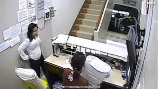 Rakaman CCTV Pencuri Di Kota Kinabalu Hotel