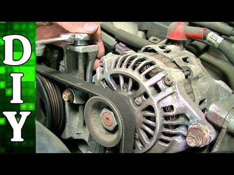 Subaru 2 5l Alternator Steering Pump And Ac Compressor Belt Replacement You