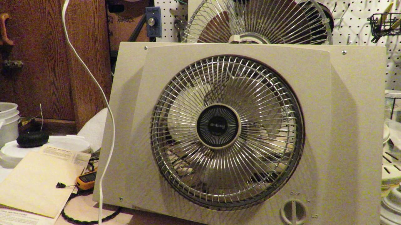 Lasko Galaxy Fan : Vintage lasko galaxy window fan with intake and exhaust