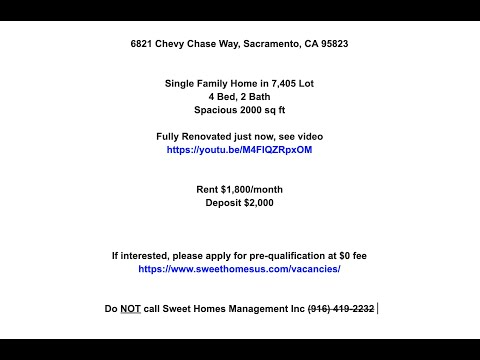 6821 Chevy Chase Way, Sacramento, CA 95823