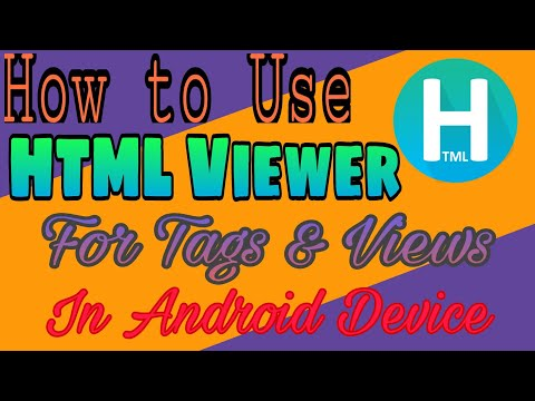 How To Use Html Viewer For Finding Tags In Android | Official | Ur Technical Rushabh