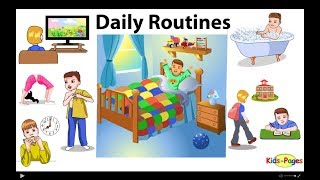 Download Daily Routines vocabulary Mp3 and Videos
