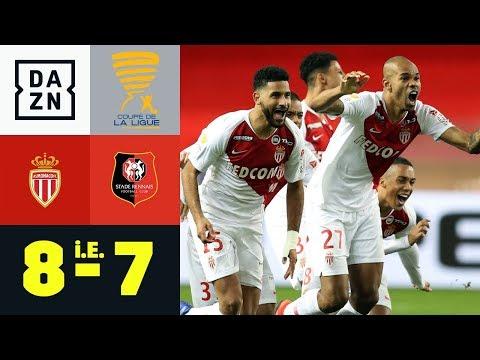 Naldo scheitert kläglich - Monaco trotzdem durch: AS Monaco - Rennes 1:2 | Coupe de la Ligue | DAZN