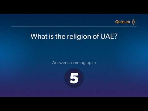 What is the religion of UAE?   United Arab Emirates Quiz