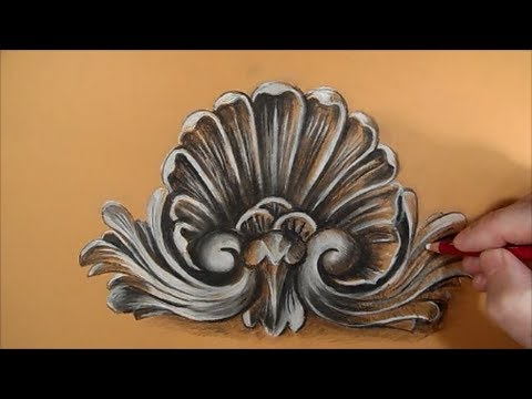 Drawing a Rococo Pattern, Time Lapse - YouTube Simple Drawing In Pencil