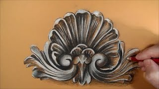 Drawing a Rococo Pattern, Time Lapse