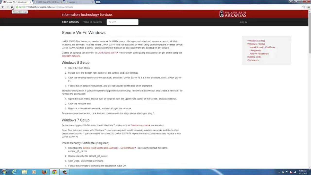 Windows 7 wifi security certificate youtube windows 7 wifi security certificate xflitez Image collections