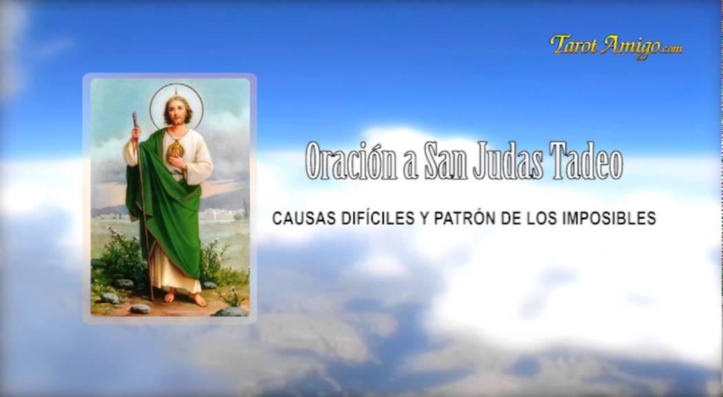 Oracion A San Judas Tadeo Patron De Los Imposibles Youtube