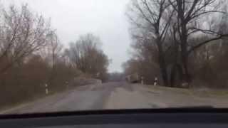 Украинский блок пост - приграничная дорога (г.Глухов сумская область)