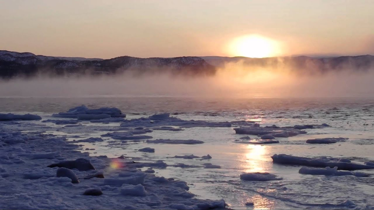 Arctic Sea Fog (sea smoke). - YouTube | title