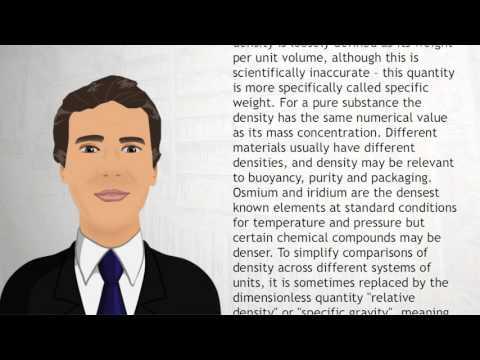 Density - Wiki Videos