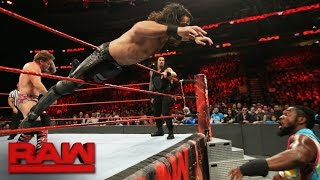 New Day vs. Rollins & Reigns vs. Jericho & Owens - Raw Tag Team Title Match: Raw, Dec. 13, 2016 thumbnail
