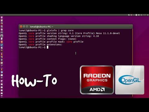AMD Mesa Driver Unlock OpenGL 4.1 On Ubuntu 15.10