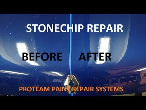Stone chip repair car paint, Proteam paint repair systems