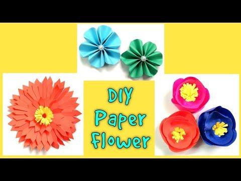 3 DIY Paper Flowers   Origami Paper Flower   Suhana's Crafty Studio