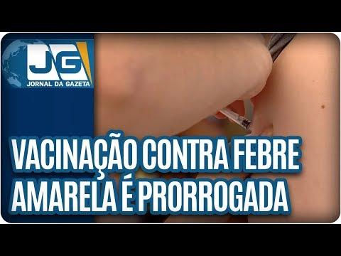 Vacinação contra a Febre Amarela é prorrogada em São Paulo