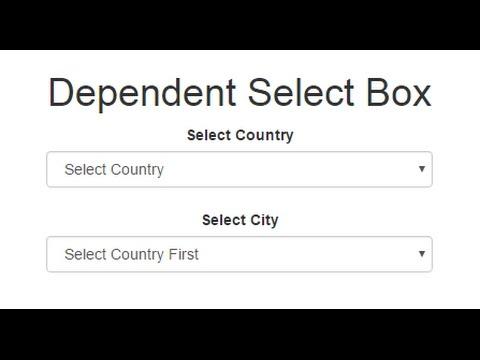 شرح عمل Dependent Select Box بإستخدام PHP, JQuery, AJAX