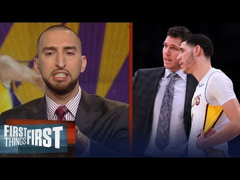 Nick on Lonzo, the Ball Bro's game in Lithuania, NBA fights and Steph Curry | FIRST THINGS FIRST